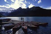 Canoes, Lake Louise, Banff National Park, Alberta, Canada<br />
