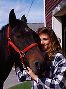 Melissa Bovey witgh her horse, McBoots, Otter Meade Farm, Florence, Vermont.