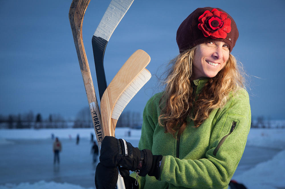 U.S. Fish and Wildlife Manager, attorney, and hockey mom, Lisa Toussaint, Westchester Lagoon, Anchorage