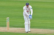 Dan Lawrence of Essex with the wicket keeper gloves on after Adam Wheater of Essex injured his thumb during the first day of the Specsavers County Champ Div 1 match between Hampshire County Cricket Club and Essex County Cricket Club at the Ageas Bowl, Southampton, United Kingdom on 5 April 2019.