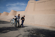 the walls . fortifications. of the old city  KHIVA  Ouzbekistan  .///.les remparts, fortifications de la vielle ville  KHIVA  Ouzbekistan .///.OUZB56302