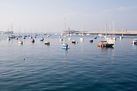 A calm evening in Dun Laoghaire Harbour, Dublin Ireland