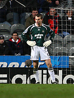 Photo: Andrew Unwin.<br /> Newcastle United v Birmingham City. The FA Cup. 17/01/2007.<br /> Newcastle's Shay Given looks dejected as his team concede a second goal.