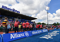 Rugby Union - 2018 / 2019 Gallagher Premiership - Play-Off Semi-Final: Saracens vs. Gloucester<br /> <br /> Gloucester fans waiting for their team to arrive out on the pitch, at Allianz Park.<br /> <br /> COLORSPORT/ASHLEY WESTERN