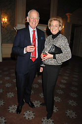 HUMPHREY & POLLY WOOD, she is Kate Reardon's mother at a party to celebrate the publication of Top Tips For Girls by Kate Reardon held at Claridge's, Brook Street, London on 28th January 2008.<br />