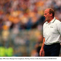 25 July 1999; Clare Manager Ger Loughnane. Hurling. Picture credit; Damien Eagers/SPORTSFILE