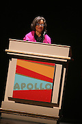 Jonelle Procope at the Apollo Theater 75th Birthday Celebration Press Conference announcing its special anniversary programming across Harlem, New York, and the Nation.