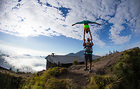 Juan Carlos Russo & Daniela Garza at Mount Batur, Bali
