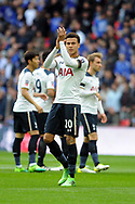 Tottenham's Deli Alli applauds the fans before kick off. The Emirates FA Cup semi-final match, Chelsea v Tottenham Hotspur at Wembley Stadium in London on Saturday 22nd April 2017.<br /> pic by Carl Robertson,  Andrew Orchard sports photography.