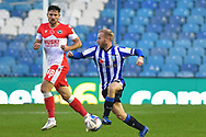 Ryan Leonard, Barry Bannan during the EFL Sky Bet Championship match between Sheffield Wednesday and Millwall at Hillsborough, Sheffield, England on 7 November 2020.