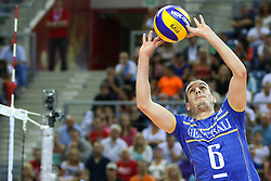 07.09.2014, Krakow Arena, Krakau, POL, FIVB WM, Frankreich vs Belgien, Gruppe D, im Bild Benjamin Toniutti (FRA) // during the FIVB Volleyball Men's World Championships Pool D Match beween France and Belgium at the Krakow Arena in Krakau, Poland on 2014/09/07. EXPA Pictures © 2014, Ph<br /> <br /> ***NETHERLANDS ONLY***