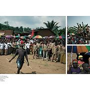 "Tearsheet of ""Burundi crisis"" published in Courrier Internacional"