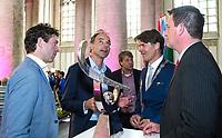 BREDA -  officiele opening van de Rabobank Champions Trophy Hockey , in de Nieuwe Kerk van Breda.  Tom van Kuyk , Erik Cornelissen, Erik Gerritsen, Paul Depla, Paul de Beer (r) COPYRIGHT  KOEN SUYK
