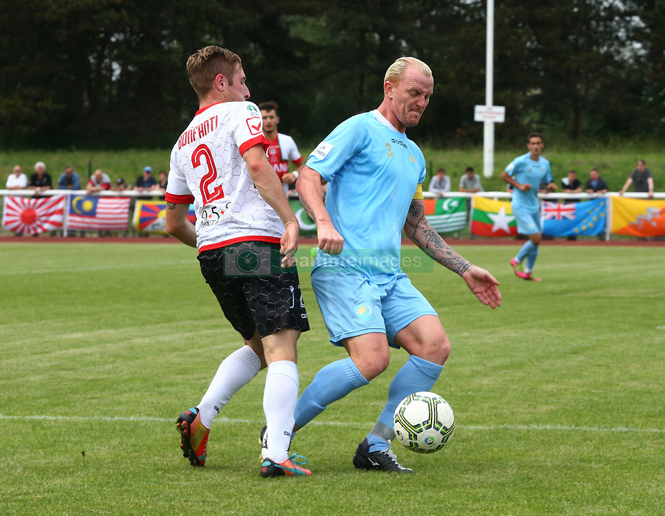 June 9, 2018 - London, England, United Kingdom - Csaba Csizmadia of Szekely Land .during Conifa Paddy Power World Football Cup 2018 Bronze Medal Match Third Place Play-Off between Padania v Szekely Land at Queen Elizabeth II Stadium (Enfield Town FC), London, on 09 June 2018  (Credit Image: © Kieran Galvin/NurPhoto via ZUMA Press)