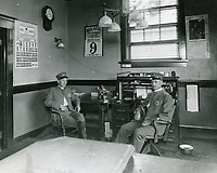 1916 Interior of Hollywood's Police Station
