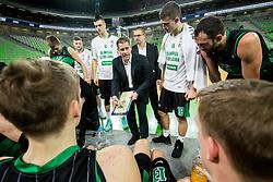 Sasa Nikitovic, coach of Petrol Olimpija during basketball match between KK Petrol Olimpija and KK FMP in Round #9 of ABA League 2018/19, on November 24, 2018, in Arena Stozice, Ljubljana, Slovenia. Photo by Vid Ponikvar / Sportida
