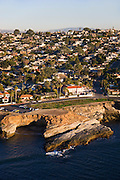 Pappys Point and the Sunset Cliffs, Point Loma, San Diego, California.