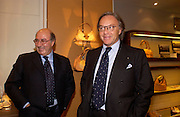 Diego Della Valle and Dante Ferretti. Tod's hosts Book signing with Dante Ferretti celebrating the launch of 'Ferretti,- The art of production design' by Dante Ferretti. tod's, Old Bond St. 19 April 2005.  ONE TIME USE ONLY - DO NOT ARCHIVE  © Copyright Photograph by Dafydd Jones 66 Stockwell Park Rd. London SW9 0DA Tel 020 7733 0108 www.dafjones.com