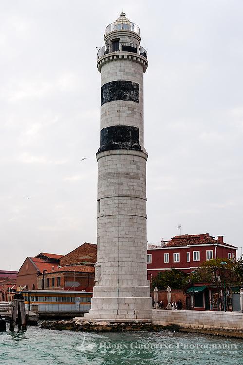 Italy, Murano. Lighthouse Faro di Murano.