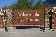 A Welcome to the City of Henderson, Nev. at the intersection of St. Rose Parkway and S. Las Vegas Blvd, Saturday, May 9, 2020. The city sold the Las Vegas Raiders 55.6 acres of land in 2018 for the site of the Intermountain Healthcare Performance Center, which will serve as the Raiders headquarters and practice facility.