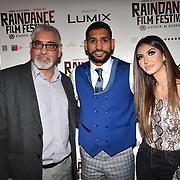 British Asain Boxer Amir Khan and Faryal Makhdoom with guests attend World Premiere of Team Khan - Raindance Film Festival 2018 at Vue Cinemas - Piccadilly, London, UK. 29 September 2018.