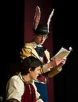 WRHS dress rehearsal of Alice in Wonderland April 10, 2013.  Karen Bobotas/for the Laconia Daily Sun