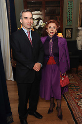 A party to promote the exclusive Puntacana Resort & Club - the Caribbean's Premier Golf & Beach Resort Destination, was held at Spencer House, London on 13th May 2010.<br /> <br /> Picture shows:- PAVLOS HORNE and CHRYSANTHY LEMOS