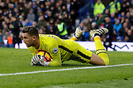 Everton Goalkeeper Maarten Stekelenburg claims the ball. Premier league match, Everton v Swansea city at Goodison Park in Liverpool, Merseyside on Saturday 19th November 2016.<br /> pic by Chris Stading, Andrew Orchard sports photography.