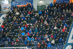 South stand during the second half. Falkirk 6 v 1 Dundee United, Scottish Championship game played 6/1/2018 played at The Falkirk Stadium.