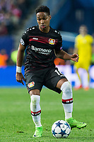 Wendell Nascimento of Bayer 04 Leverkusen during the match of Uefa Champions League between Atletico de Madrid and Bayer Leverkusen at Vicente Calderon Stadium  in Madrid, Spain. March 15, 2017. (ALTERPHOTOS / Rodrigo Jimenez)