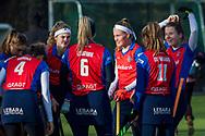 BILTHOVEN -  Hoofdklasse competitiewedstrijd dames, SCHC v hdm, seizoen 2020-2021.<br /> Foto: Team SCHC vervolgt de wedstrijd positief