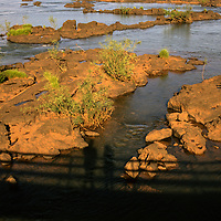 South America, Argentina, Iguacu Falls. Top of Iguacu Falls.