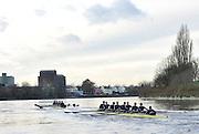"Putney, GREAT BRITAIN, Oxford UBC, {OUBC} Trial Eights Race  2011  Varsity Trial Eights raced over the championship course, River Thames.. Putney to Mortlake,  Tuesday  [Mandatory Credit, Peter Spurrier/Intersport-images]..Crews. .NAME OF BOAT: ""High Water"" Surrey Station.Bow: Julian Bubb-Humfryes.2: Geordie Macleod.3: Justin Webb.4: Hanno Wienhausen.5: Kevin Baum.6: Alexander Davidson.7: Alexander Woods.Stroke: Tom Watson.Cox: Zoe De Toledo..NAME OF BOAT: ""Hell"" Surrey Station.Bow: Thomas Hilton.2: Chris Fairweather.3: Charlie Auer.4: Ben Snodin.5: Karl Hudspith.6: William Zeng.7: Dan Harvey.Stroke: Roel Haen.Cox: Oskar Zorrilla. [Mandatory Credit, Peter Spurrier/Intersport-images]..Crews. .NAME OF BOAT: ""High Water"" Surrey Station.Bow: Julian Bubb-Humfryes.2: Geordie Macleod.3: Justin Webb.4: Hanno Wienhausen.5: Kevin Baum.6: Alexander Davidson.7: Alexander Woods.Stroke: Tom Watson.Cox: Zoe De Toledo..NAME OF BOAT: ""Hell"" Surrey Station.Bow: Thomas Hilton.2: Chris Fairweather.3: Charlie Auer.4: Ben Snodin.5: Karl Hudspith.6: William Zeng.7: Dan Harvey.Stroke: Roel Haen.Cox: Oskar Zorrilla."