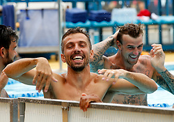 Gary O'Neil of Bristol City shares a joke with Aden Flint of Bristol City during a recovery session in the pool - Mandatory by-line: Matt McNulty/JMP - 21/07/2017 - FOOTBALL - Tenerife Top Training Centre - Costa Adeje, Tenerife - Pre-Season Training