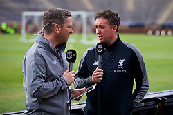 ANN ARBOR, USA - Friday, July 27, 2018: Former Liverpool player Robbie Fowler gives an interview with LFC.tv's Peter McDowell during a training session ahead of the preseason International Champions Cup match between Manchester United FC and Liverpool FC at the Michigan Stadium. (Pic by David Rawcliffe/Propaganda)