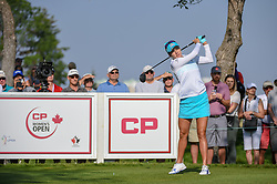 August 23, 2018 - Regina, SK, U.S. - REGINA, SK - AUGUST 23: Lexi Thompson (USA) watches her tee shot on 12 during the CP Women's Open Round 1 at Wascana Country Club on August 23, 2018 in Regina, SK, Canada. (Photo by Ken Murray/Icon Sportswire) (Credit Image: © Ken Murray/Icon SMI via ZUMA Press)