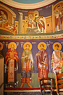 Aegina; church; Greek; Orthodox; Argosaroni; port; Saronic; Islands; Greece; historic; ancient; Photo; Byzantine; architectures ..<br /> <br /> If you prefer to buy from our ALAMY PHOTO LIBRARY  Collection visit : https://www.alamy.com/portfolio/paul-williams-funkystock/aegina-greece.html <br /> <br /> Visit our GREECE PHOTO COLLECTIONS for more photos to download or buy as wall art prints https://funkystock.photoshelter.com/gallery-collection/Pictures-Images-of-Greece-Photos-of-Greek-Historic-Landmark-Sites/C0000w6e8OkknEb8