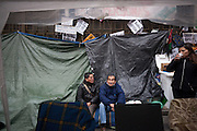 Two persons evicted, occupy Bankia headquarters in Madrid since 78 days.