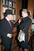 OLIVER ROTHSCHILD; CAPRICE, Launch of  KILIMANJARO APPEAL in aid of TODAY AND TOMORROW and HOPE HOUSE , THE WOMEN'S UNIVERSITY CLUB, S. Audley sq. London. 18 October 2010. <br />  -DO NOT ARCHIVE-© Copyright Photograph by Dafydd Jones. 248 Clapham Rd. London SW9 0PZ. Tel 0207 820 0771. www.dafjones.com.