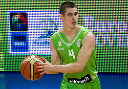 Jan Span of Slovenia during basketball match between National teams of Latvia and Slovenia in Qualifying Round of U20 Men European Championship Slovenia 2012, on July 16, 2012 in Domzale, Slovenia. Slovenia defeated Latvia 69-62. (Photo by Vid Ponikvar / Sportida.com)