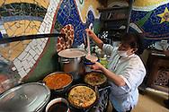 Cooking at restaurant Quinua y Amaranto