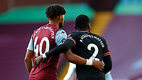 Football - 2019 / 2020 Premier League - Aston Villa vs. Chelsea<br /> <br /> Tyrone Mings of Aston Villa and Antonio Rudiger of Chelsea at Villa Park. <br /> <br /> <br /> COLORSPORT/LYNNE CAMERON