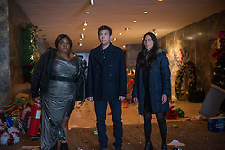 (L-R) Da'Vine Joy Randolph as Carla, Jason Bateman as Josh Parker and Olivia Munn as Tracey Hughes in OFFICE CHRISTMAS PARTY by Paramount Pictures, DreamWorks Pictures, and Reliance Entertainment
