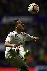 February 24, 2019 - Valencia, Valencia, Spain - Lucas Vazquez of Real Madrid controls the ball during the week 25 of La Liga match between Levante UD and Real Madrid at Ciutat de Velencia Stadium in Valencia, Spain on February 24, 2019. (Credit Image: © Jose Breton/NurPhoto via ZUMA Press)