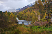 Landscape format view of the upper reaches of Glen Affric.