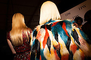 TORONTO, ON - MARCH 15: Fashionable women come backstage to see their favourite designers after the House of Knot show during Toronto Fashion Week in Toronto, Ontario. Toronto Star/Todd Korol