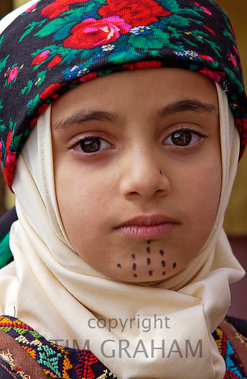A young girl from Jordan