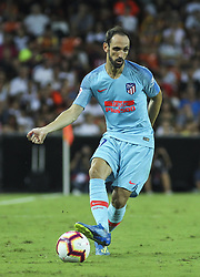 August 20, 2018 - Juanfran  of Atletico de Madrid in action during the spanish league, La Liga, football match between ValenciaCF and Atletico de Madrid on August 20, 2018 at Mestalla stadium in Valencia, Spain. (Credit Image: © AFP7 via ZUMA Wire)