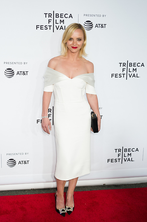 """Christina Ricci attends the world premiere of """"Clive Davis: The Soundtrack of Our Lives"""" at Radio City Music Hall, during opening night of the 2017 Tribeca Film Festival,"""