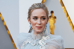 Emily Blunt walking on the red carpet during the 90th Academy Awards ceremony, presented by the Academy of Motion Picture Arts and Sciences, held at the Dolby Theatre in Hollywood, California on March 4, 2018. (Photo by Anthony Behar/Sipa USA)